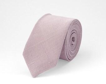 Dusty rose tie, mens dusty rose tie, linen necktie, wedding tie, groomsmen tie, dusty rose wedding tie, pink tie, bow tie for men, dusty tie