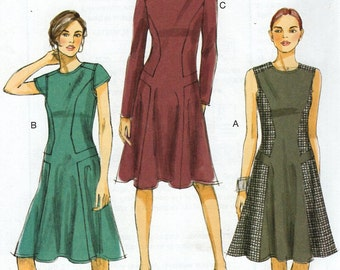 Vogue 8848 Free Us Ship Sewing Pattern  Inset Princess Seams Dress New Size 6/14 14/22  Bust 30 31 32 34 36 38 40 42 New 2012