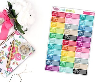 Daily Chore Planner Stickers for the Erin Condren Life Planner, Chore Sticker, Chore Planner Sticker - [P0108]