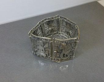 Link Bracelet silver 835 Asian symbols SA220