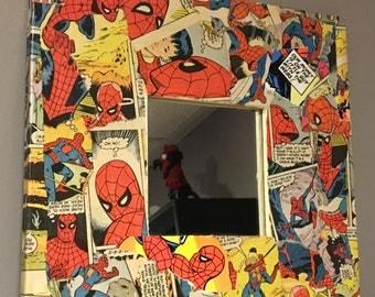 Spider man canvas  mirror