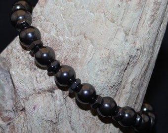 Hematite Single Strand Stretch Bracelet B2