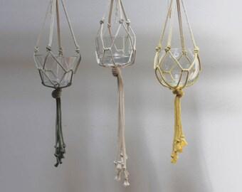 Medina Blue, hanging macrame planter Planthanger, decoration, gift idea, wedding Decoration, Wedding Decoration
