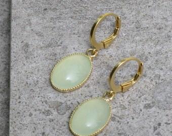 Dangle Earrings Aqua Earrings Chalcedony Earrings Everyday Earrings Wedding Jewelry Turquoise Earring Dangle Earrings Gold Earrings