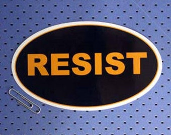 Resist Oval Bumper Sticker