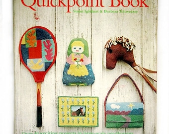 vintage hippie needlepoint books, Quickpoint and 120 Needlepoint Design Projects, retro, 19702, great for plastic canvas