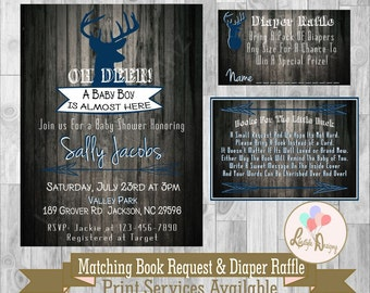 oh deer baby shower invitation deer baby shower rustic baby shower invitation antler