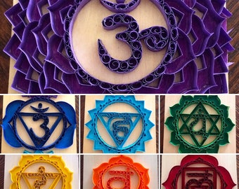 FOR SALE Quilled Chakras Wall Art
