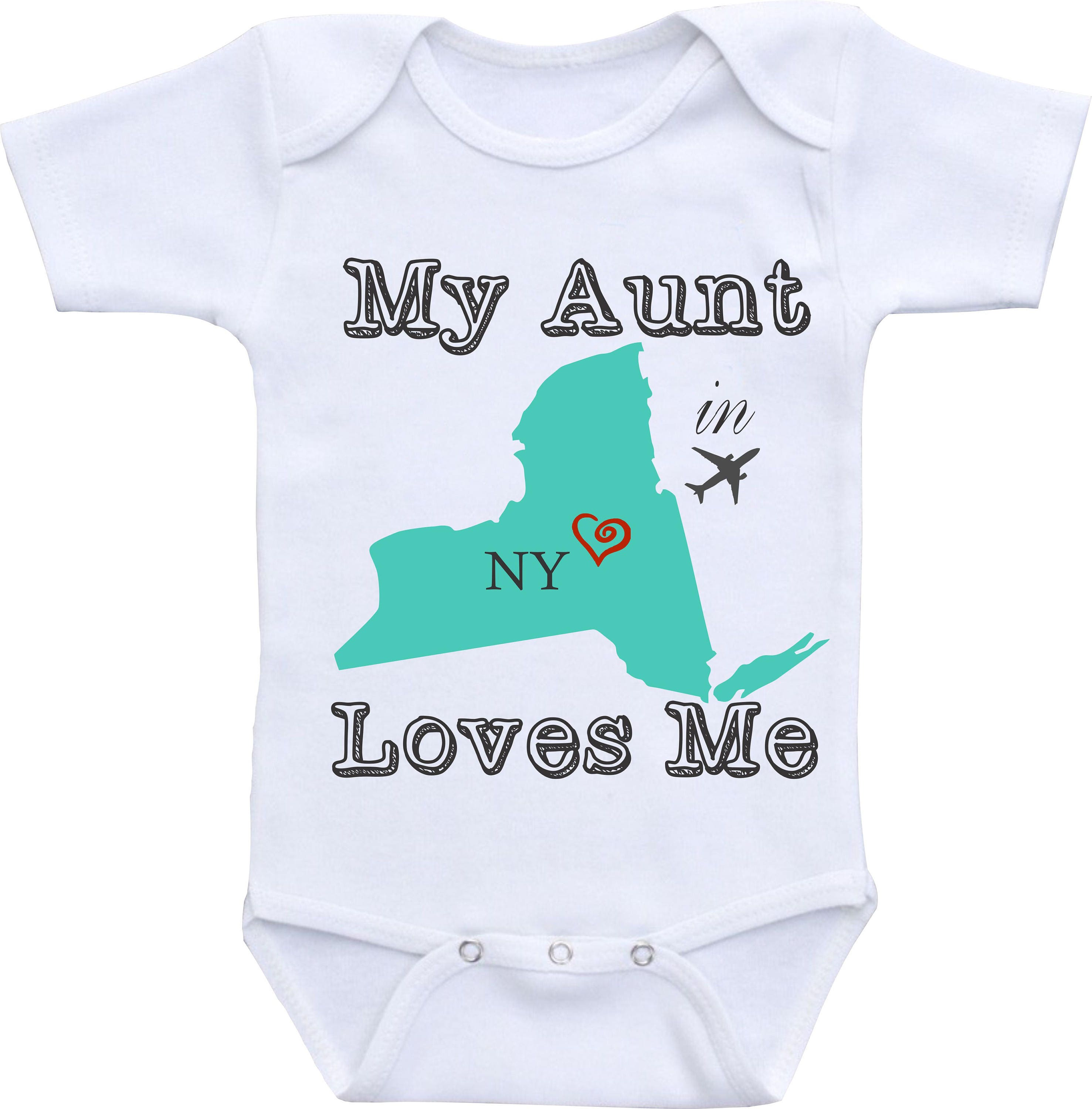 Aunt esies Personalized state Aunt baby onesies Aunt baby clothes