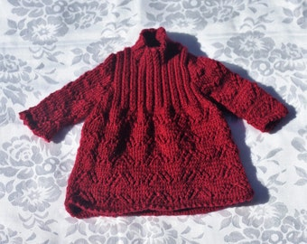 Bespoke Hand Knitted Dress - Baby - Newborn to 12 Months - Made to Order