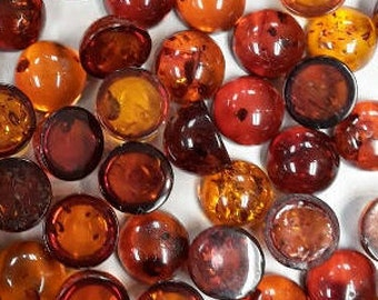 Designer dream! Natural Baltic Amber round cabochon size 8 mm   1 pcs Weight 1 Carats