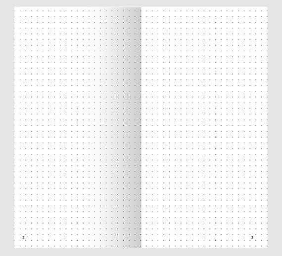 Universal image regarding bullet journal dot grid printable