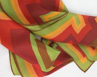 Art deco square scarf - A Dance of Squares