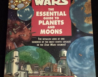 Vintage 1998 First Edition Star Wars: The Essential Guide to Planets and Moons