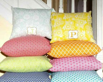 Lumbar Pillows: Variety Monogram Lumbar Pillows