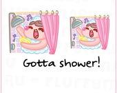 Shower Time Sammie || Planner Stickers, Cute Stickers for Erin Condren (ECLP), Filofax, Kikki K, Etc. || SFS143