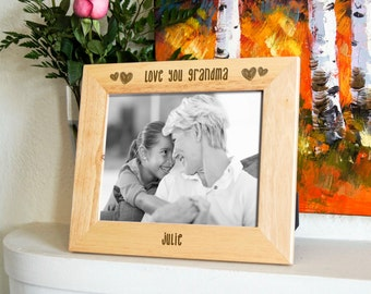 Personalized engraved frame, Custom photo frame, Mothers day gifts, grandma gift