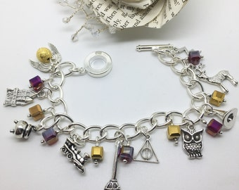 Witchcraft and Wizardry - Harry Potter inspired charm bracelet