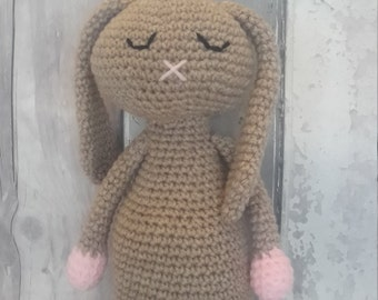 Rabbit soft toy- ce tested toy, handmade rabbit toy, crochet bunny toy, Easter bunny, Easter bunny toy, soft toy rabbit, UK