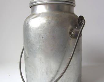 Vintage Aluminum Cream Can
