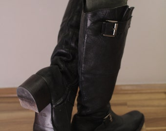 Vintage Boots Real Leather Made in Italy 40Eur,  7UK, USA9