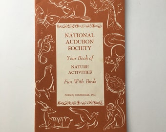 Vintage National Audubon Society Activity book, National Audubon Society booklet, Fun with Birds booklet, audubon nature booklet, audubon