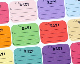 Planner Stickers Daily Meal Tracking for Erin Condren, Happy Planner, Filofax, Scrapbooking