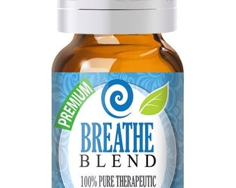 Breathe Blend 100% Pure, Best Essential Oil - 10ml - Comparable to Doterra Breathe, Young Living Raven Respiratory and Sinus Relief