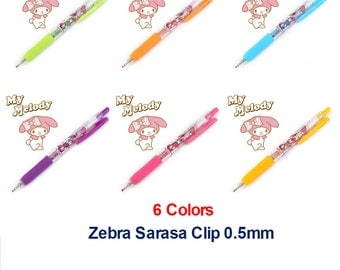Rare Zebra My Melody Sarasa 0.5 Gel Ink Pens