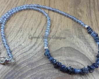 Genuine Iolite Necklace (Water Sapphire)