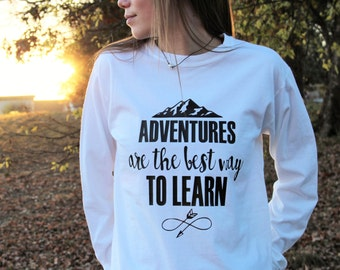 Mountain Shirt - Adventure Shirt - Hiking Shirt - Womens Hiking Shirt - Womens Mountain Shirt - Adventurous Shirt - Trendy Shirt - Hipster