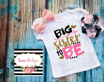 Big sister announcement shirt, big sister to be, big sis shirt, pregnancy announcement shirt, big sis little sis, girls shirts, girl outfit