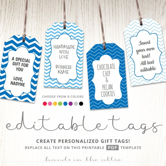 editable gift tags gift tag template text editable chevron gift labels hang tags luggage. Black Bedroom Furniture Sets. Home Design Ideas