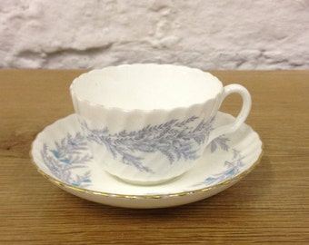 Vintage Mintons Duo - Belbrachen Blue Tea Cup & Saucer S696. Lovely Teacup Set.