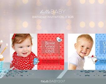 6x4 Inch Personalised Birthday invitation, Print it yourself - Girl invitation, Boy invitation // B38