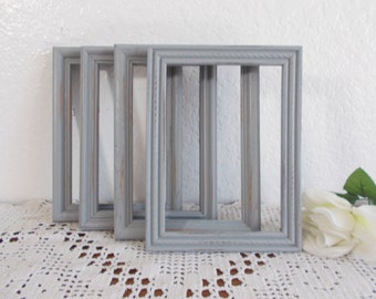 Rustic Grey Picture Frame 5x7 Photo Decoration Up Cycled Vintage Wood Country Farmhouse Lake House Cabin Home Decor Shabby Chic Wedding Gift