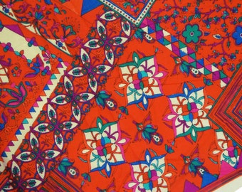 """Dressmaking Red Fabric, Quilt Material, Cotton Fabric, Sewing decor, Floral Print Fabric, 47""""Inch Designer Fabric By The Yard ZBC6849A"""