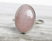 Rose Quartz Ring Bohemian Jewelry - Christmas Gifts for Her Gemstone Ring Dainty Ring - Anniversary Gift for Her - Christmas Gifts Under 50