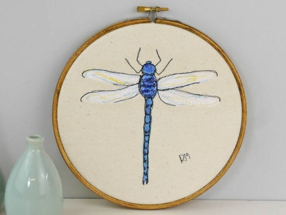 Dragonfly Embroidered In Hoop By Rose Of Stitching Insect