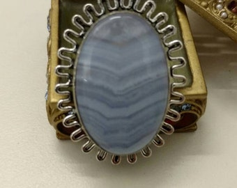 Blue Lace Agate Ring Size 7