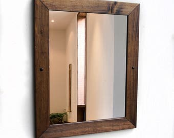 Wood Wall Mirror, Wood Bathroom Mirror