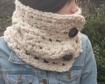 Chunky Crochet Scarf, Crochet Knit Scarf, Chunky Infinity Scarf, Chunky Circle Scarf, Chunky Infinity Cowl, Chunky Knitted Scarf