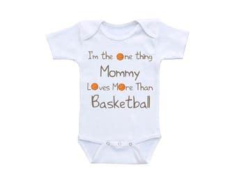 Basketball Baby Bodysuit or Gerber Onesie® Basketball Onesie® Basketball Baby Shower New Mom Cute Baby Onesies® Mommy and Baby Mommy Onesie®
