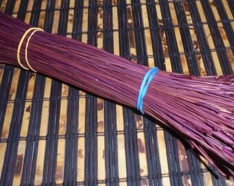 904 Dyed Pine Needles Fuchsia Pine Needle Basketry Coiling Fiber 3.20 OZ Bundle Florida Pine Basket makers Basket Supply