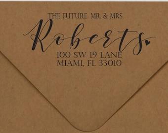 Future Mr. & Mrs. Wedding Stamp, Wedding Rubber Stamp, Wedding Self Inking Stamp, Address Stamp