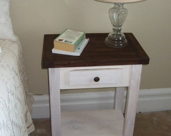Bed Side Table/Rustic Nightstand/Rustic End Table/Rustic Table/Farmhouse Side Table/Wooden Table