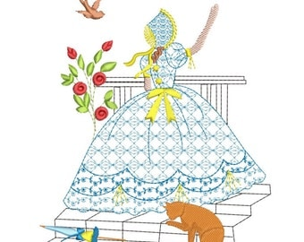 SOUTHERN BELLE machine embroidery download 5 diff sizes ( 3.4 X 3.4    4x4  5x5 6x6 7x7  )