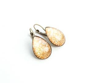 Gold Teardrop Earrings Gold Tear Drop Earrings Glitter Earrings Small Drop Earrings Unique Gifts for Her Teardrop Dangles Cute Dangles