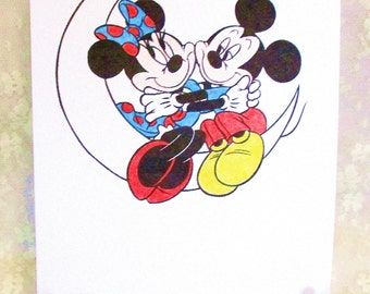Mickey and Minnie Mouse: Add a Greeting or Leave Blank