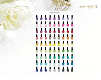 Nail Polishes || Planner Stickers